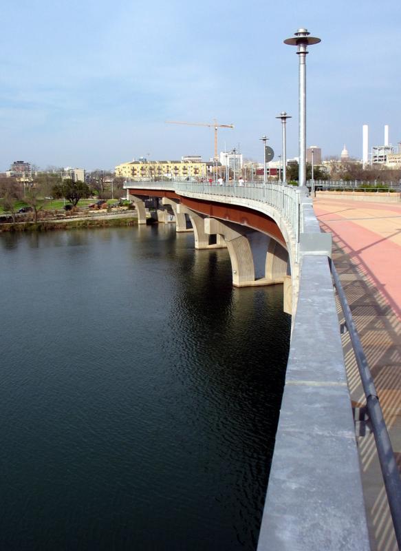 Town Lake from the Foot Bridge, Down Town, Austin, TX