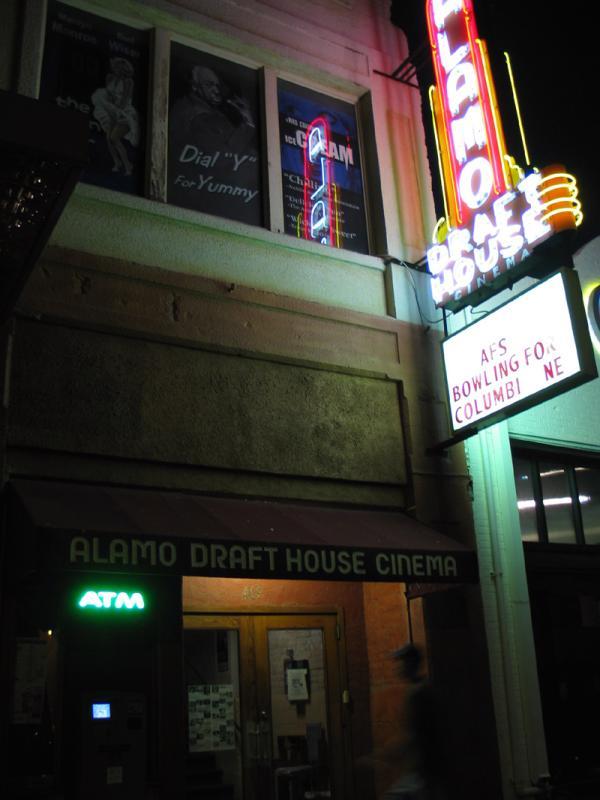 Alamo Draft House (Beer and movies)