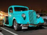 1935=36 Ford pickup w/ an awesome ghost flames paint job