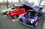 1940 deluxe Ford and a 30-31 Model A with a deuce grille
