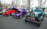 Green - 1928 Model A - Purple - 1940 Ford Sedan - Red - 1930-31 Model A Hotrod with 32 Grill