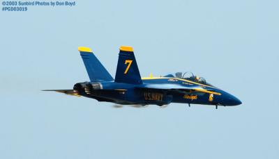 USN Blue Angels F/A-18 Hornets military aviation air show stock photo #3571