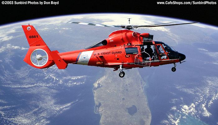 USCG HH-65A #CG-6561 high over Florida Fantasy Photo
