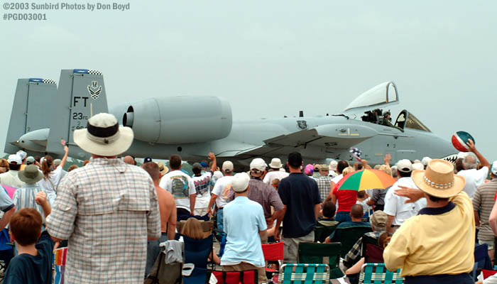 Air Show Crowd and A-10 Thunderbolt II military aviation air show stock photo #3541