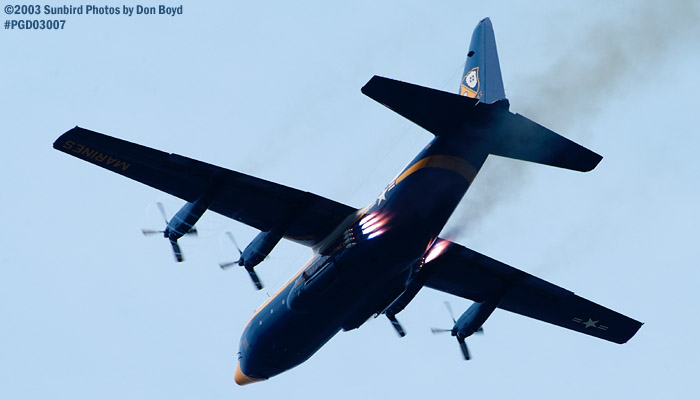 USMC Blue Angels Fat Albert (New Bert) C-130T #164763 JATO takeoff military aviation air show stock photo #3553