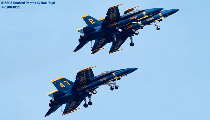 USN Blue Angels F/A-18 Hornets military aviation air show stock photo #3559