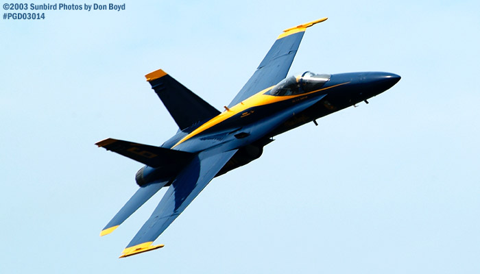 USN Blue Angels F/A-18 Hornet military aviation air show stock photo #3562