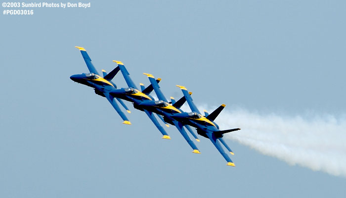 USN Blue Angels F/A-18 Hornets military aviation air show stock photo #3566