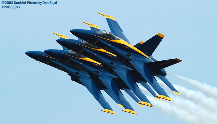 USN Blue Angels F/A-18 Hornets military aviation air show stock photo #3567