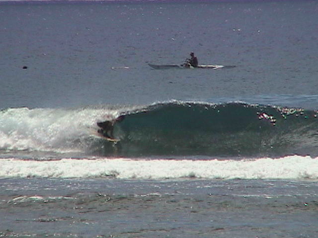 thats me...surfing avarua harbour...north shore rarotonga