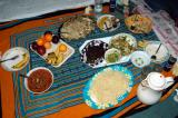 A Somali lunch prepared by Suleiman's wife
