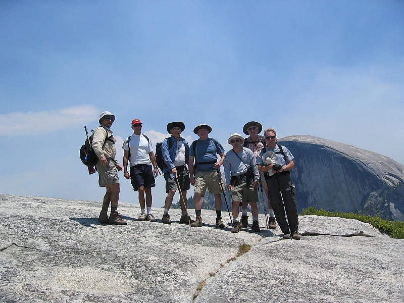 The Group at the top of North Dome