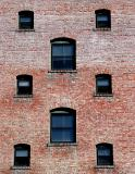Brick and windows - old warehouses