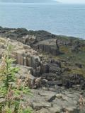 Basalt columns on shoreline at Brier Island