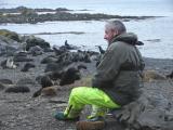 Martin (our naturalist and bird expert) at South Georgia Island