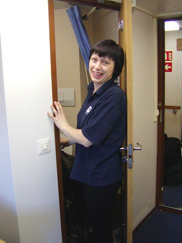 Olga, our cabin stewardess