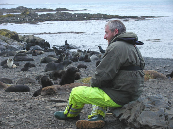 Martin (our naturalist and bird expert) at South Georgia Island