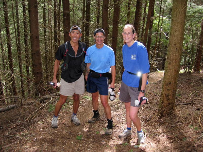 Glenn, Tony & Carol, coming down Middle Tiger