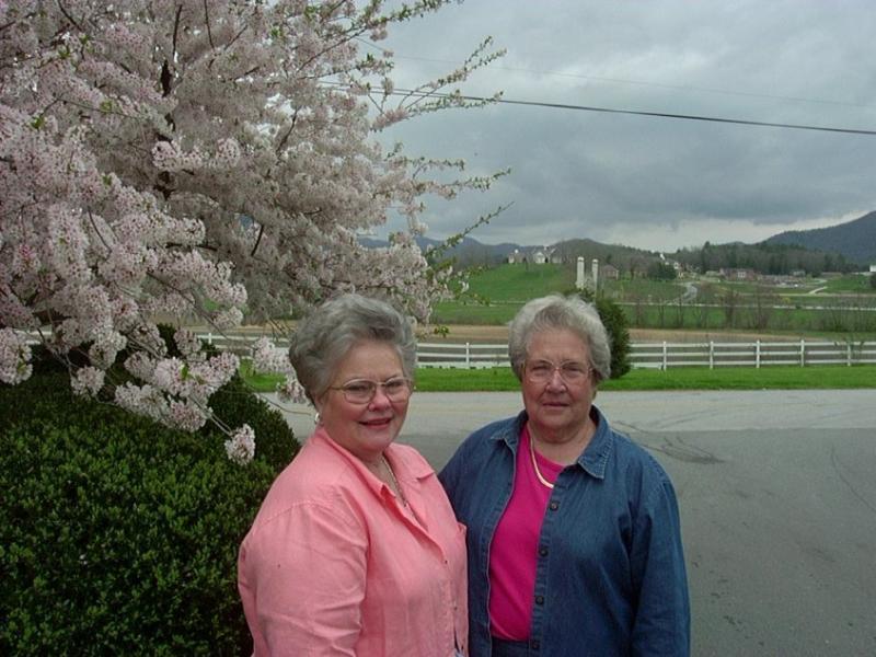 Janice & Annie Maude By Tree