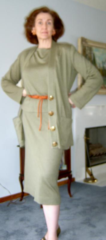 Olive Knit Suit
