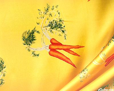 Silk Charmeuse Carrot Botanical Print