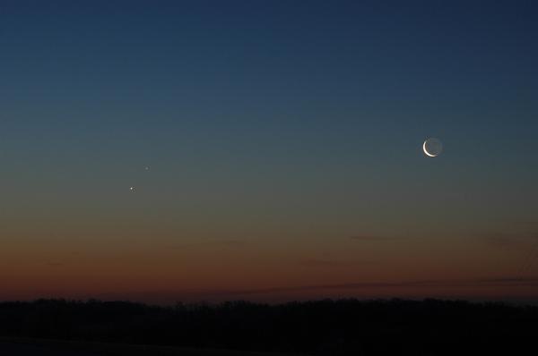 Moon, Venus, and Mercury