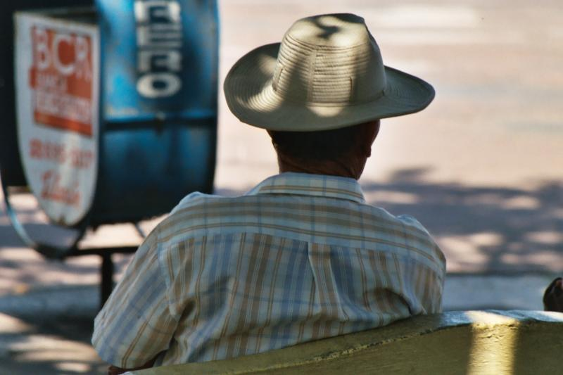 Man with hat, Arenal