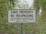 state property no trespassing
