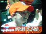 baseball on TV fan cam