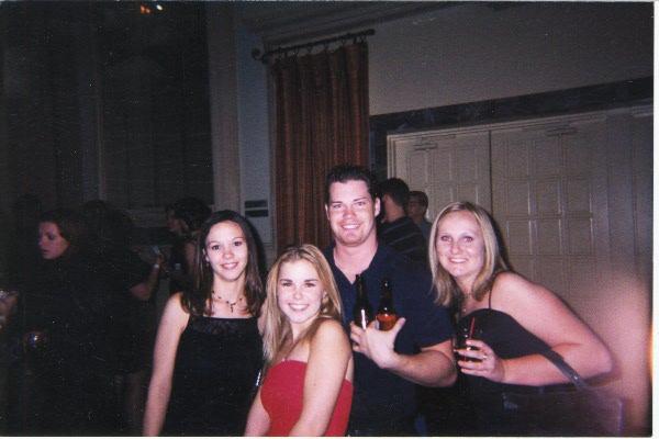 Chilis Xmas Party 2001 Tarina, Heather, Dustin and Lindsy.
