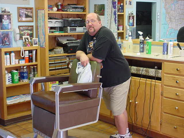 Bill at Bills barber shop