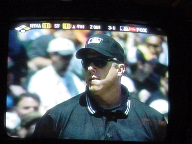 baseball on TV umpire