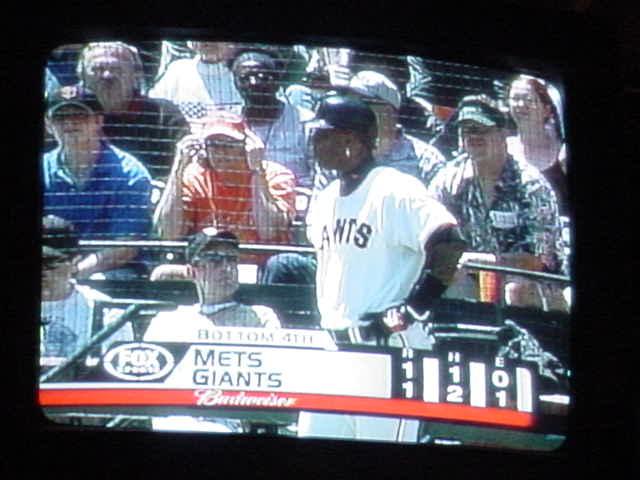 baseball on TV<br>Barry Bonds