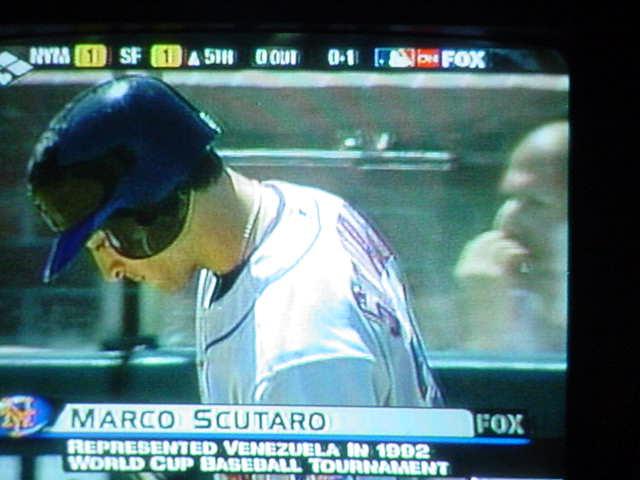 baseball on TV <br>Marco Scutaro