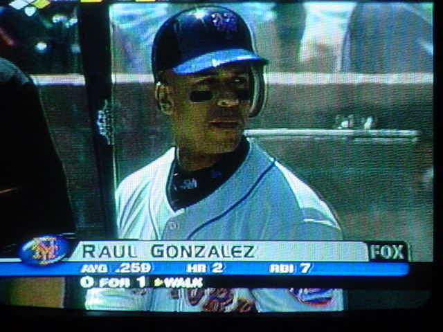 baseball on TV<br>Raul Gonzalez
