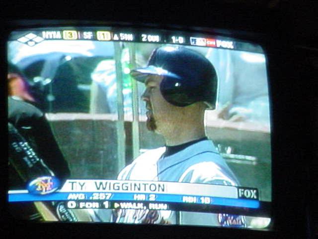 baseball on TV<br>Ty Wigginton