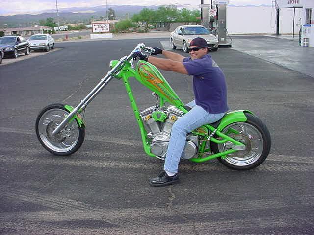 nice custom chopper