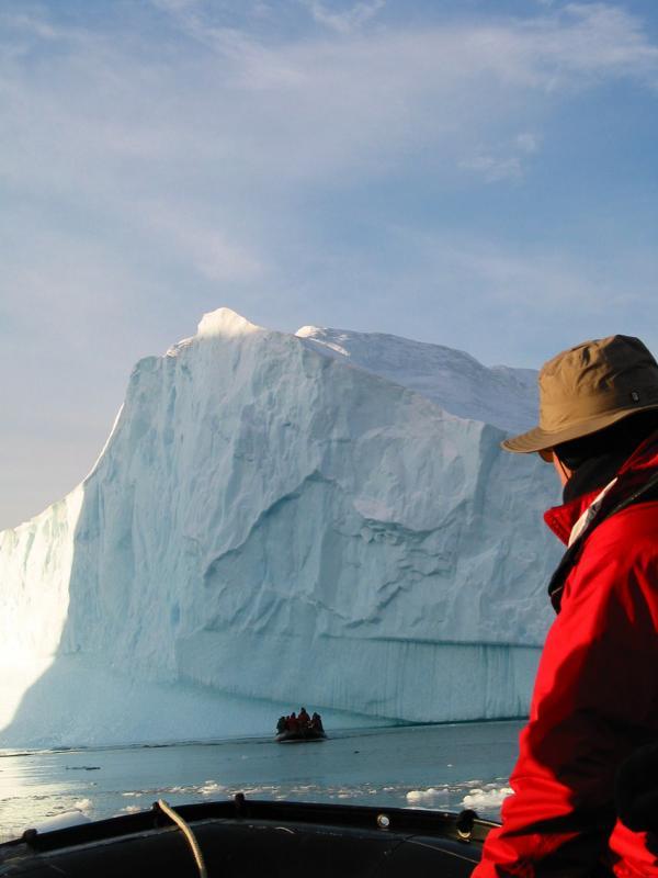 Peter looking at Iceberg