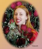 Lisa With Roses