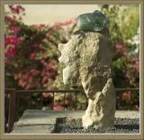 A stone head