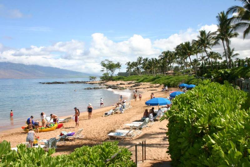 Beach in front of Renaissance Wailea
