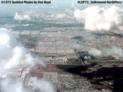 1973  -  view of North Dade/South Broward and North Perrry Airport aerial stock photo