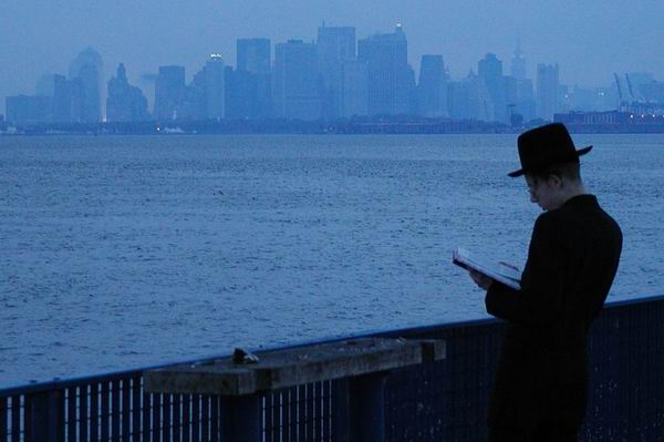 Praying while looking at the new New York Skyline after 9/11