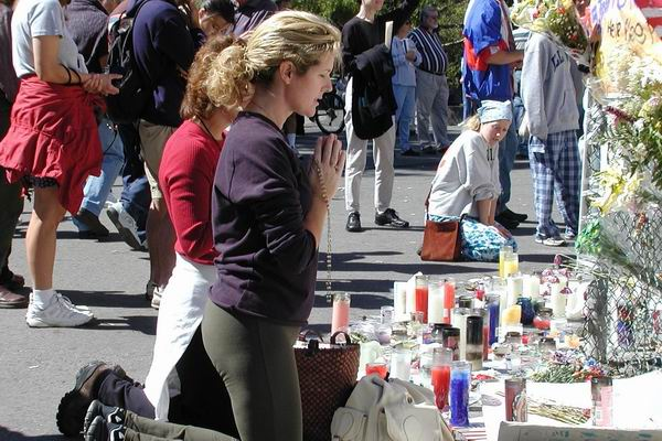 Pray for peace in Washington Square Park