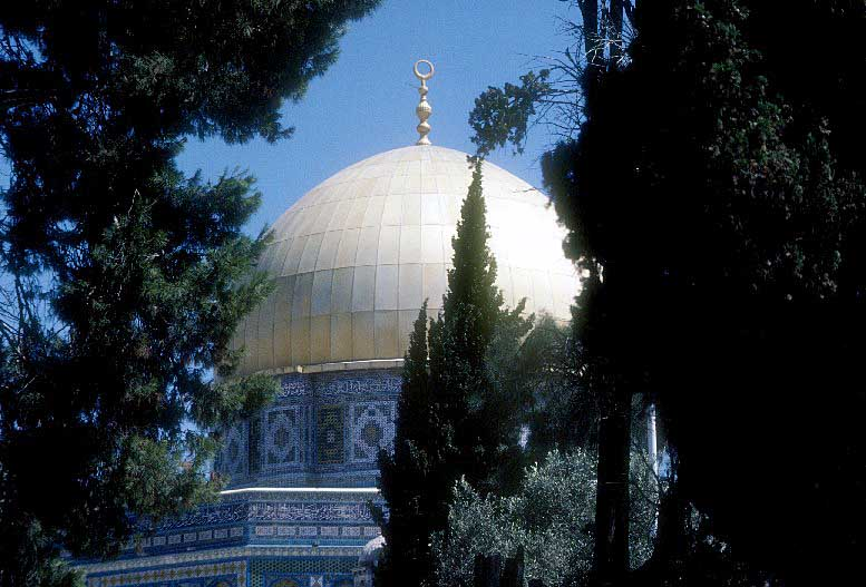 View of Dome of the Rock - Mt. Moriah - Temple Area