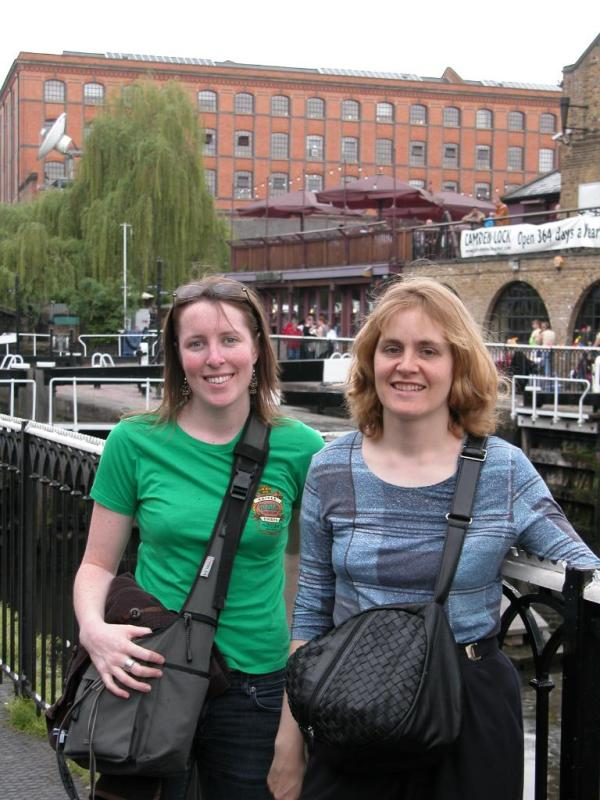 Tanya and Jennifer at Camden Locks