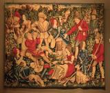 Tapestry: lunch during the hunt