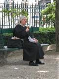 Munching nun
