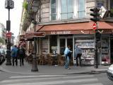 A corner café in the Marais