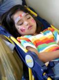 Sleeping Girl On Trolley